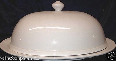 Sur La Table Ceramica Stefani 14 5 8  Meat Serving Platter With Domed Lid White