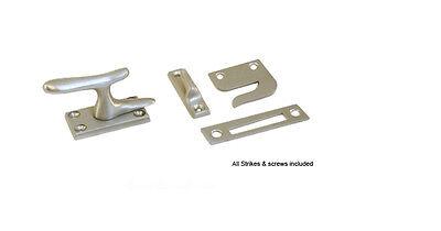 Satin Nickel Large Casement Window Fastener Cabinet Latch Lock Deltana CF66 U15  15 Satin Nickel Latch