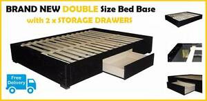 BRAND NEW Double Size Bed Base with Storage Drawers FREE DELIVERY New Farm Brisbane North East Preview