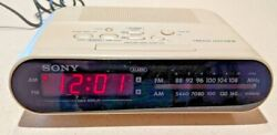 Sony ICF-C243 Dream Machine AM/FM Dual Alarm Digital Clock Radio - White