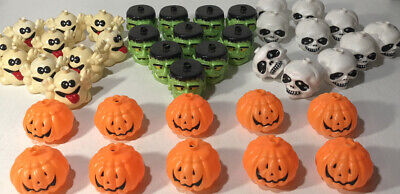 Blow Mold Halloween String Lights Pumpkins Frankenstein Ghosts Skeleton Skulls