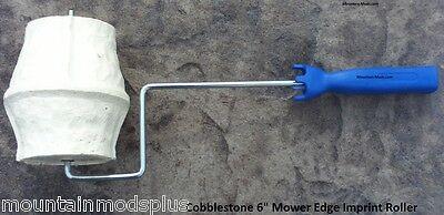 Concrete Landscape Curbing Cobblestone Mower Edge Imprint Texture Roller Stamp
