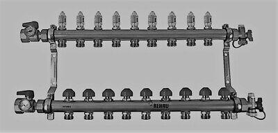 Rehau Stainless Steel Pro-balance Radiant Heat Manifold- 9 Circuit 381109-001