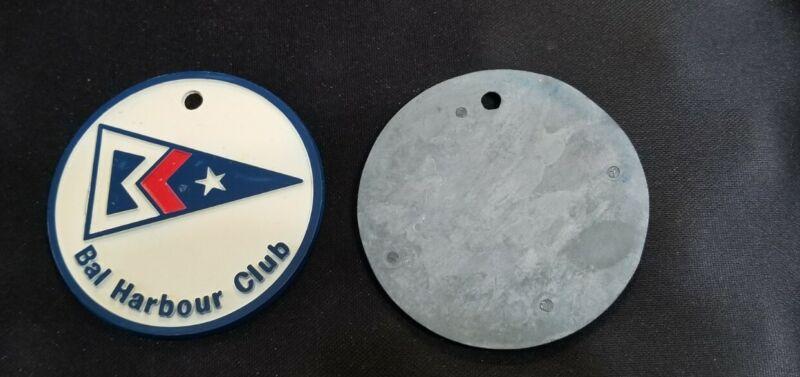 Rare Bal Harbour Club Florida Pennant Burgee enamel metal  3 inch crest