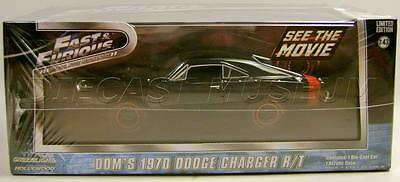 FAST & FURIOUS MOVIE CAR DOM'S 1970 '70 DODGE CHARGER RT OFFROAD 1:43 2016