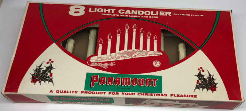 Paramount 8 Light Candolier Vintage Complete in Box No Bulbs Included Christmas