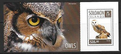 SOLOMON ISLANDS 2014 OWLS  (2) MNH
