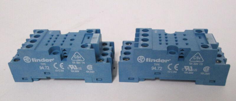 (2) Finder 94.72 Screw Terminal Sockets
