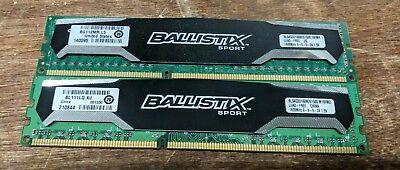 Dimm Xmp Desktop Memory - Ballistix 8GB 2X4GB DDR3 1600 BLS4G3D1609DS1S00.16FMR XMP  DIMM Desktop Memory