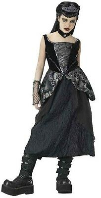 GOTHIC PRINCESS COSTUME Girls Large 12-14 Halloween Child Vampire Goth Black NEW - Vampire Princess Costume Halloween