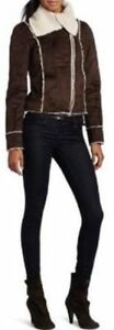 VESTE FAUX SUEDE BB DAKOTA FAUX SUEDE SHEARLING JOVI JACKET NEW