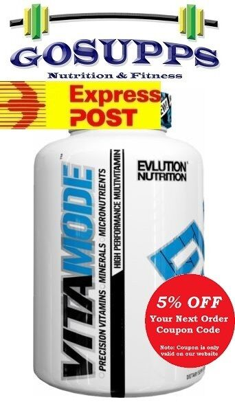 EVL EVLUTION NUTRITION VitaMode Multivitamin 60 Tablets (30 Days) LeanMode CLA
