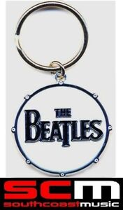 BEATLES-KEYCHAIN-KEY-RING-DRUM-LOGO-OFFICIAL-KEYRING-CHAIN-TOP-QUALITY-NeW