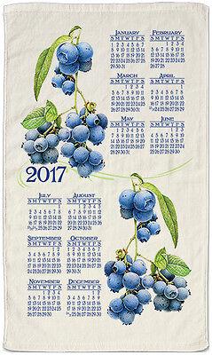 2017 Calendar Towel - Summer Blueberry