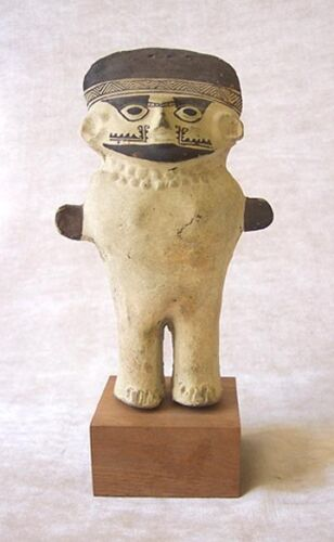 SUPERB Pre-Columbian CHANCAY Terracotta Standing Figure