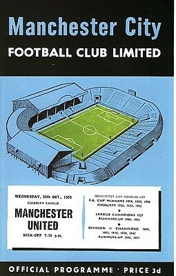 FA CHARITY SHIELD 1956 Man City v Man Utd FULL REPRINT