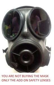 S10 Respirator Gas Mask Outsets Safety Lenses for Airsoft