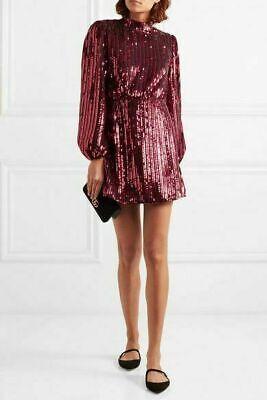 Limited Sale!!! RIXO London Laura Jackson Samantha Sequined Crepe Mini Dress XS