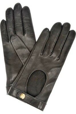 YVES SAINT LAURENT YSL - Y-LINE WOMANS CHYC LEATHER & SILK DRIVING GLOVES -NEW!