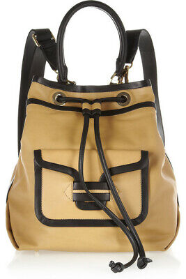 Authentic PIERRE HARDY Beige Black Leather Backpack