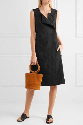 NEW Tomas Maier Cotton-blend poplin dress- black size 2 #D103