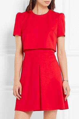 Alexander McQueen Mini Red Dress 8 44 NEW! STUNNING! NWT!