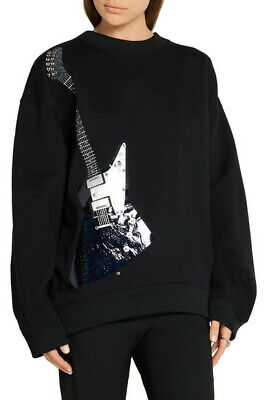 Acne Studios Beta Guitar Embellished Sweatshirt Black S Small