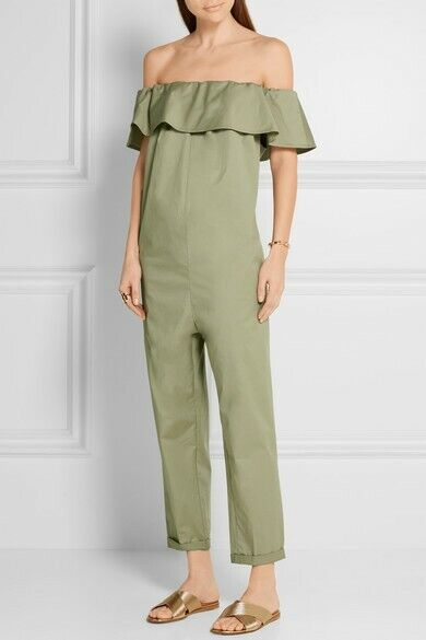 Hatch Collection Maternity Chloe Jumpsuit Pistachio Size P (Petite) Pockets