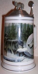 Collectible Wolf tankards from Longton Crown