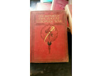 The History of The Great European War volume2,3,4,5,7,8 vintage books worn offers welcome