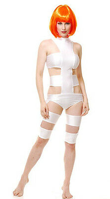 Leeloo Halloween Costume (Fifth Dimension Element Leeloo White Fancy Dress Up Halloween Sexy Adult)