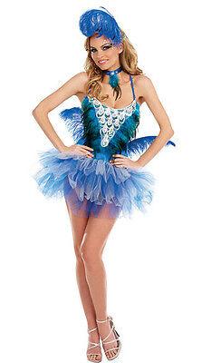 DREAMGIRL Glittery BLUE BIRD BEAUTY COSTUME HALLOWEEN 8569