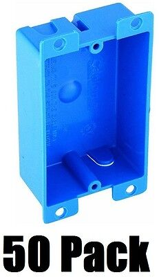 (50) ea Tomas & Betts B108R-UPC Single Gang Shallow Electrical Outlet Box  ()