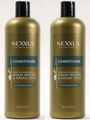 Wheat Protein Conditioner - 2 Bottles Nexxus Conditioner Frizz Resistance 25 Oz Wheat Protein & Indian Lotus