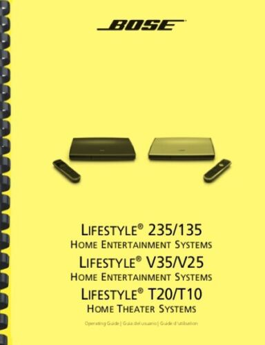 Bose Lifestyle V35 V25 OWNER