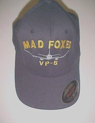 O5+ Officers Embroidered Baseball Cap Navy Blue Patrol Squadron Sixty VP-60