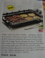 NEW high sided double griddle
