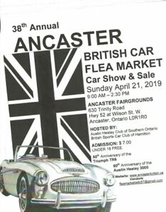 BRITISH CAR SHOW AND SWAP MEET-ANCASTER, ONTARIO