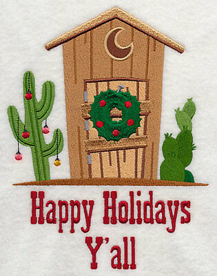 - OUTHOUSE HOLIDAY EMBROIDERED SET 2 BATHROOM HAND TOWEL BY LAURA