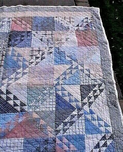 VERY OLD Antique Quilt 1800