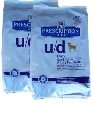 2x12kg Hills Prescription u/d Canine Non - Struvite, Diet, Hundefutter