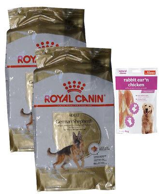 2x11kg Royal Canin German ADULT Shepherd Deutscher Schäferhund+80g Fleischsnacks ()