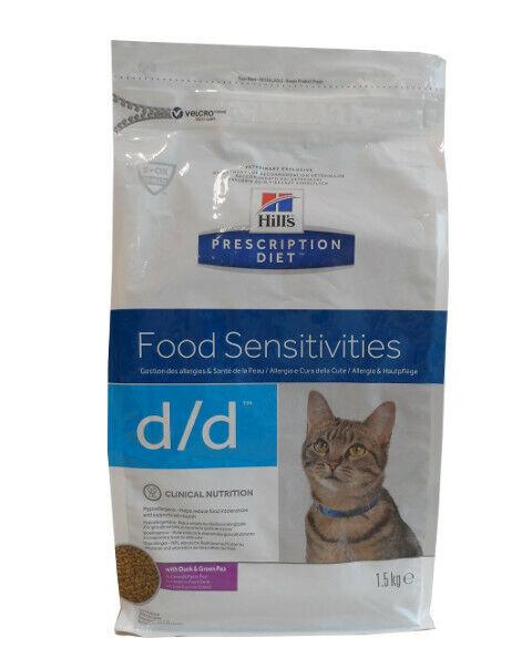 1,5kg Hills Prescription d/d Food Sensitivities Diet Ente Katzenfutter