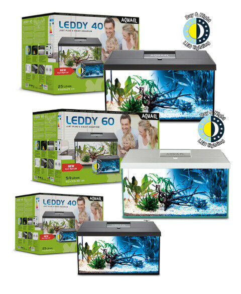 AQUAEL Aquarium Set LEDDY LED DAY&NIGHT komplett inkl. Abdeckung, Filter,Heizer