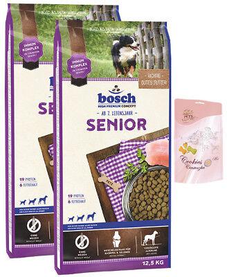 2x12,5kg Bosch Senior + Lolo Hundekekse