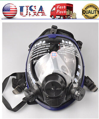 Full Face Facepiece Respirator Painting Spraying Gasdust Mask For 3m 6800 Us