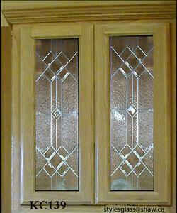 Beautiful  Leaded glass Kitchen Cabinet door inserts KC 139