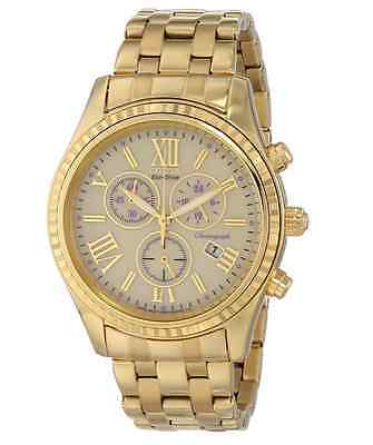 NWT Ladies Citizen FB1362-59P Eco-Drive Gold-Tone Stainless Chronograph Watch