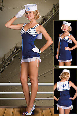 Cute Sailor Costume (Sexy Cute Salute Navy Sailor Halloween Adult Womens Costume Roleplay)
