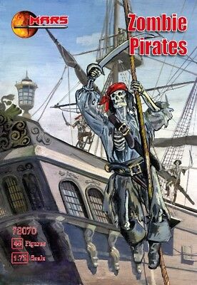 MARS MODELS 1/72 Zombie (Skeleton) Pirates (48) - Zombie Pirates